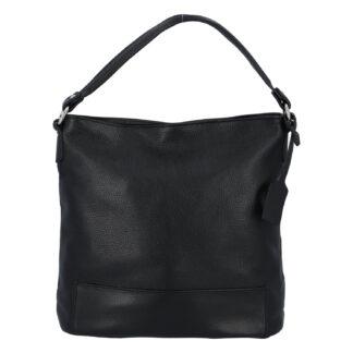 Dámská kožená kabelka přes rameno černá - ItalY Roterry černá