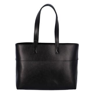 Dámská kožená kabelka přes rameno černá - ItalY Darknest černá