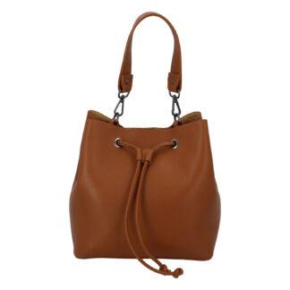 Dámská kožená kabelka světle hnědá - ItalY TianJin hnědá