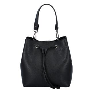 Dámská kožená kabelka černá - ItalY TianJin černá