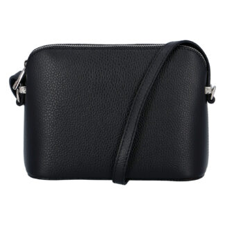 Dámská kožená crossbody kabelka černá - ItalY M7772 černá