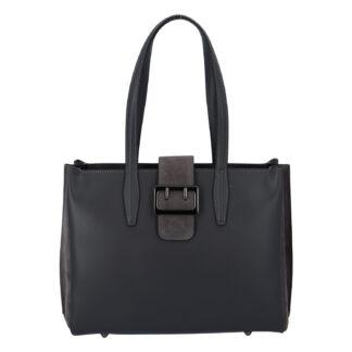 Dámská kožená kabelka přes rameno tmavě šedá - ItalY Driada šedá