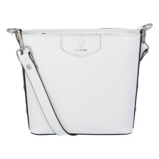 Dámská kožená kabelka bílá - ItalY Koloseum bílá