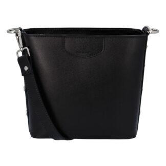 Dámská kožená kabelka černá - ItalY Koloseum černá