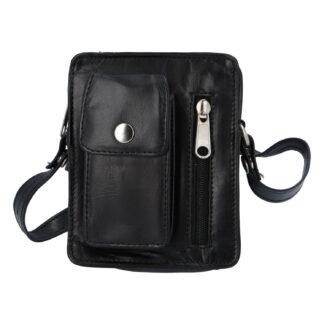 Pánská kožená kapsa na doklady černá - Tomas Furry černá