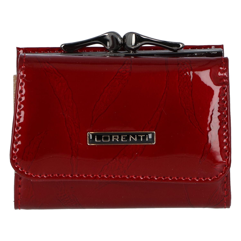 Dámská kožená lakovaná peněženka červená - Lorenti Bipila červená