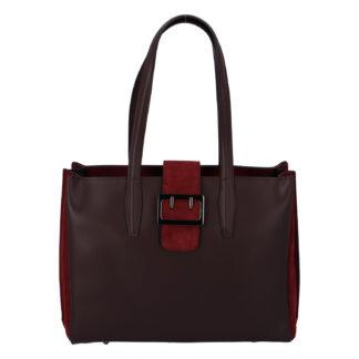 Dámská kožená kabelka přes rameno bordo - ItalY Driada vínová