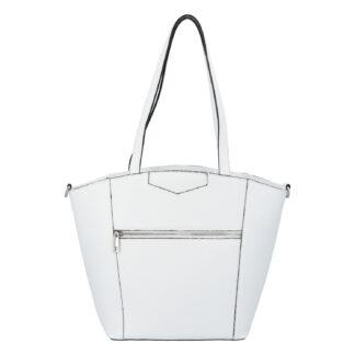 Dámská kožená kabelka přes rameno bílá - ItalY Zhoushan bílá