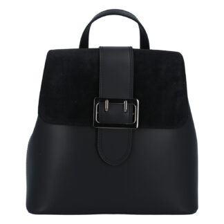 Dámský kožený černý batoh - ItalY Parid černá