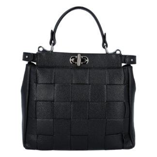 Dámská kožená kabelka černá - Italy Rotterda černá