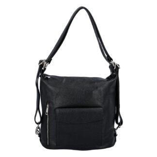 Dámská kožená kabelka batoh černá - ItalY Singa černá