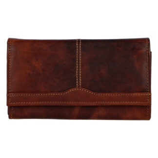 Dámská kožená peněženka hnědá - Tomas Salto hnědá