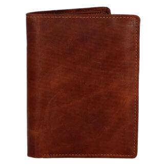 Pánská kožená peněženka hnědá - Tomas Palac hnědá