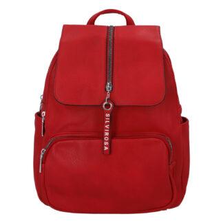 Dámský městský batoh červený - Silvia Rosa Koody červená