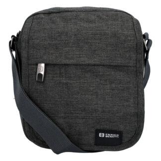 Sportovní crossbody taška na doklady tmavě šedá - Enrico Benetti šedá