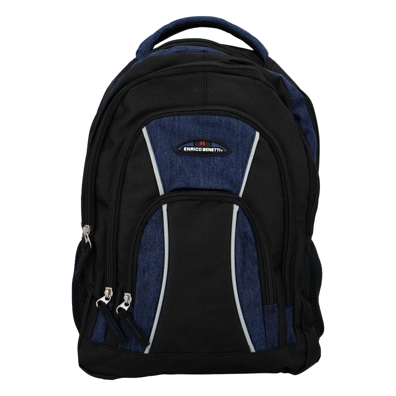 Sportovní batoh černo modrý - Enrico Benetti Schenzen tmavě modrá