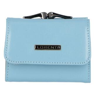 Malá kožená peněženka světle modrá - Lorenti 5287N modrá
