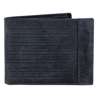 Pánská kožená peněženka tmavě modrá - WILD Rialto tmavě modrá