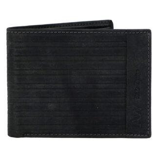 Pánská kožená peněženka černá - WILD Rialto černá