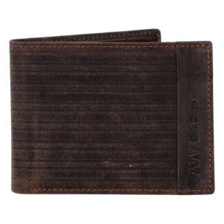 Pánská kožená peněženka hnědá - WILD Rialto hnědá