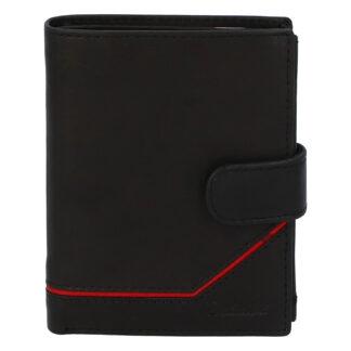 Pánská kožená peněženka černá - Delami Euro 2 černá