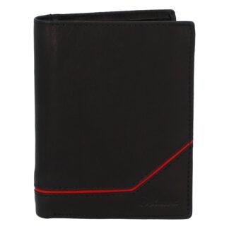 Pánská kožená peněženka černá - Delami Maast 2 černá