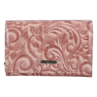 Dámská kožená lakovaná peněženka růžová - Lorenti 112X růžová