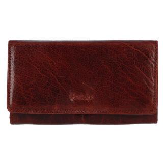 Dámská kožená peněženka vínová - Rovicky N195 vínová