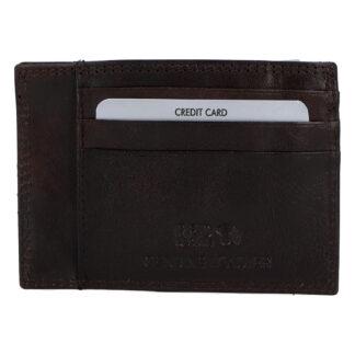 Kožené pouzdro na kreditní karty tmavě hnědé - Rovicky N1336 hnědá