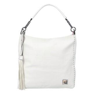 Velká dámská kabelka přes rameno bílá - Pierre Cardin Elia bílá