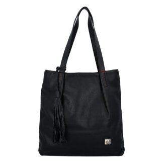 Velká dámská kabelka přes rameno černá - Pierre Cardin Elis černá