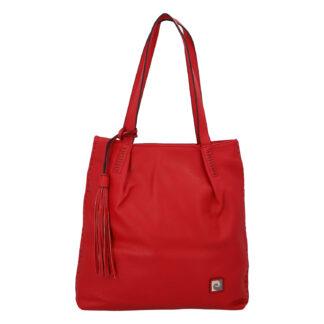 Velká dámská kabelka přes rameno červená - Pierre Cardin Elis červená