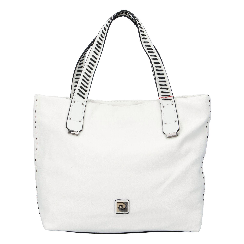Velká dámská kabelka přes rameno bílá - Pierre Cardin Altin bílá