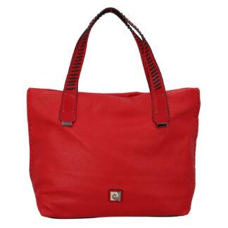 Velká dámská kabelka přes rameno červená - Pierre Cardin Altin červená