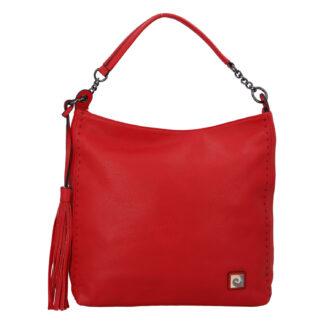 Velká dámská kabelka přes rameno červená - Pierre Cardin Elia červená