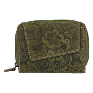 Dámská kožená peněženka zelená - Tomas Pierluigi zelená