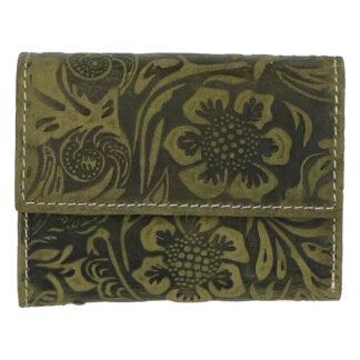Dámská kožená peněženka zelená se vzorem - Tomas Gulia zelená