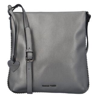 Dámská módní crossbody kabelka stříbrná - Marco Tozzi Coco stříbrná