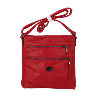 Dámská crossbody kabelka červená - Romina Sara červená