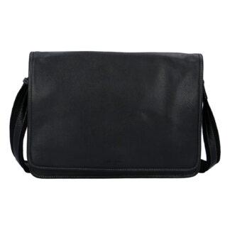 Pánská kožená taška přes rameno černá - Hexagona 463136 černá