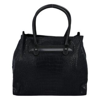 Dámská módní kroko kabelka černá - Marco Tozzi Skuba černá