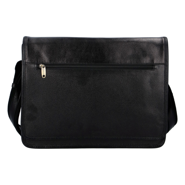 Luxusní pánská kožená taška černá - Hexagona Pierre černá