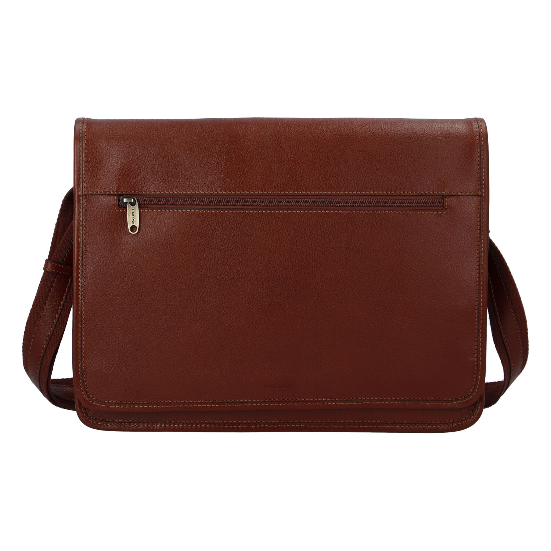 Luxusní pánská kožená taška hnědá - Hexagona Pierre hnědá