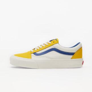 Vans Old Skool Vlt LX (Leather) Lemon/ Blue/ True White VN0A4BVF2TU1