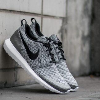 Nike Roshe NM Flyknit SE Wolf Grey/ Black- White 816531-002 Z13