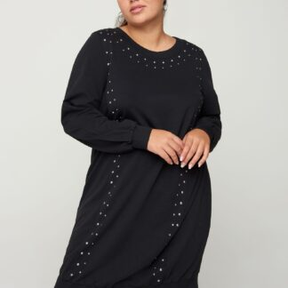 Zizzi černé svetrové šaty