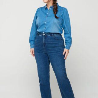Zizzi modré straight fit džíny