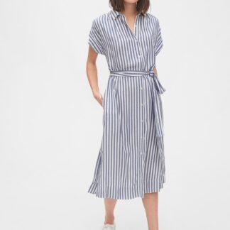 GAP modré midi košilové šaty