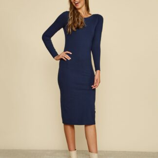 ZOOT modré pouzdrové basic šaty Esther