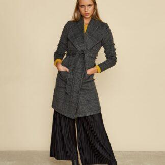 ZOOT šedý károvaný kabát Pamela